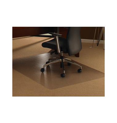 Bodenschutzmatte Cleartex ultimat XXL 150 x 150 cm Form O für Teppichböden transparent PC