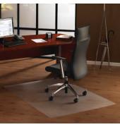Bodenschutzmatte Cleartex ultimat 100 x 120 cm Form O für Hartböden transparent PC
