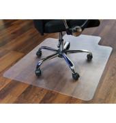 Bodenschutzmatte Cleartex ultimat 120 x 134 cm Form O für Hartböden transparent PC
