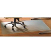 Bodenschutzmatte Cleartex advantagemat 115 x 134 cm Form O für Hartböden transparent Vinyl