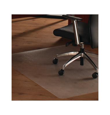 Bodenschutzmatte Cleartex unomat 120 x 150 cm Form O für Hartböden & Teppichböden transparent PC