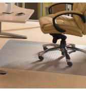Bodenschutzmatte Ecotex evolutionmat 120 x 130 cm Form O für Teppichböden transparent Polymer
