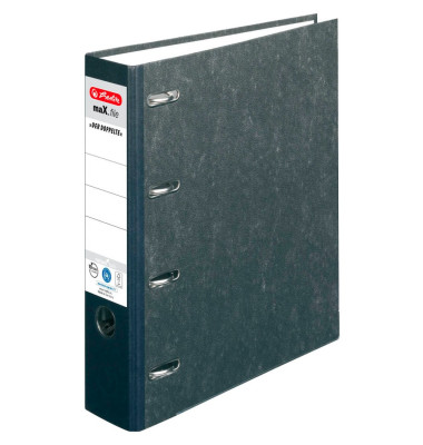 Doppelordner maX.file nature 2x A5-quer schwarz 70mm Recycling