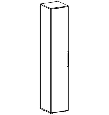 Regal Flex S-383001-LG, Holz, 3 OH, 80 x 110,4 x 40 cm, lichtgrau