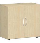 Aktenschrank Flex S-382100-AA, Holz, 2 OH, 80 x 75,2 x 42 cm, ahorn