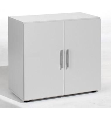 Aktenschrank Flex 382100LG, Holz, 2 OH, 80 x 75,2 x 42 cm, lichtgrau