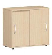 Aktenschrank Flex S-382501AH, Holz, 2 OH, 80 x 75,2 x 40 cm, ahorn