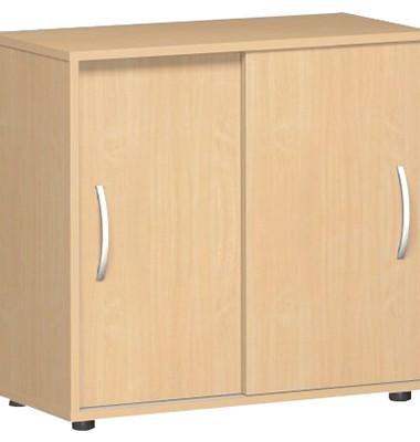 Aktenschrank Flex S-382501BU, Holz, 2 OH, 80 x 75,2 x 40 cm, buche