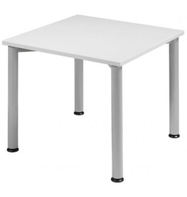 Schreibtisch S555101-LG/WA grau quadratisch 80x80 cm (BxT)