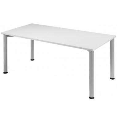 Schreibtisch S555103-LG/WA grau rechteckig 160x80 cm (BxT)