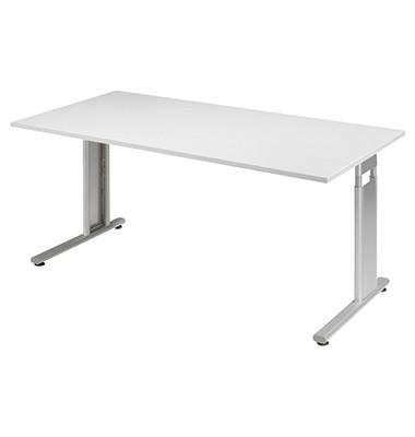 Schreibtisch Lissabon S-617103LGSI grau rechteckig 160x80 cm (BxT) manuell höhenverstellbar