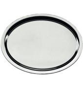 Tablett oval 18/10 ohne Griffe silber 27x20cm