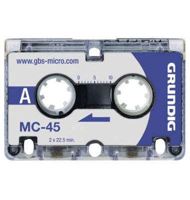 Microcassette MC-45 3 x 45 min 3 St