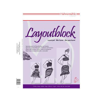 Layoutblock weiß A3 75g 75 Bl