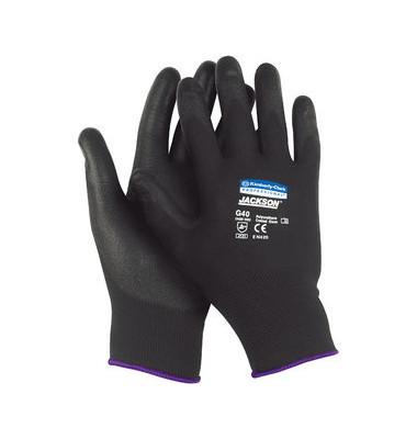 Polyurethanbesch. Handschuhe schwarz G40 Gr.8 12 Paar
