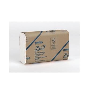 Multifold Handtücher weiß 24cm x23,5cm 16x250Tü