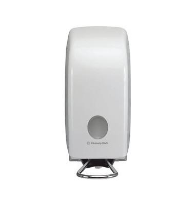 Seifenspender mit Armhebel weiß 24x12x25cm 1 L
