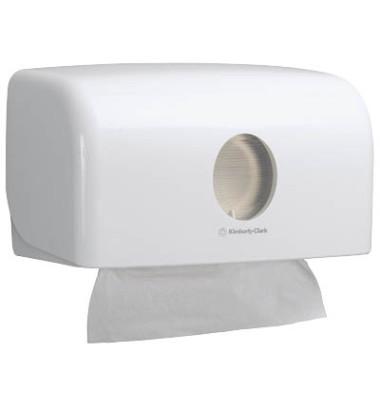 Handtuchspender klein weiß 16x29x14cm