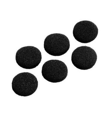 Ersatzohrpolster Schaumstoff schwarz D:19mm 6 St