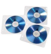 CD-/DVD-Hülle PP abheftbar FL/WE f.2 CDs/DVDs 50 St