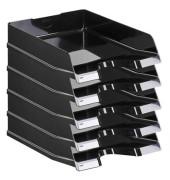 Briefablage 10275 Viva A4 / C4 schwarz-hochglänzend stapelbar