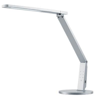 Schreibtischlampe Vario Plus mit Fuß silber