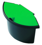 Abfalleinsatz 2 Liter mit Deckel für H61057/58 schwarz/grün