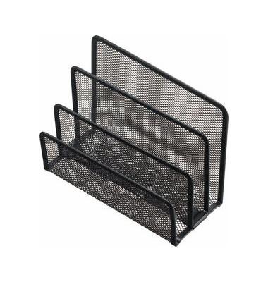 Briefständer Mesh Stahl besch. schwarz 140x75x105mm