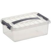 Aufbewahrungsbox Q-line 4 Liter, DIN A5, transparent, 300 x 200 x 100 mm,