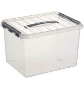 Aufbewahrungsbox Q-line 22 Liter, DIN A4, transparent, 300 x 400 x 260 mm,