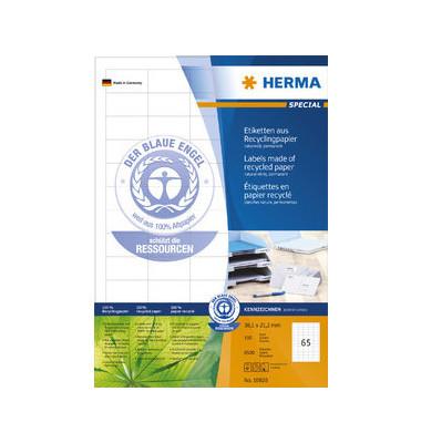Etiketten 10820 38,1 x21,2mm weiß 6500 Stück Recycling