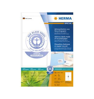 10827 Adressetiketten 99,1 x 67,7 mm weiß 800 Stück Recycling