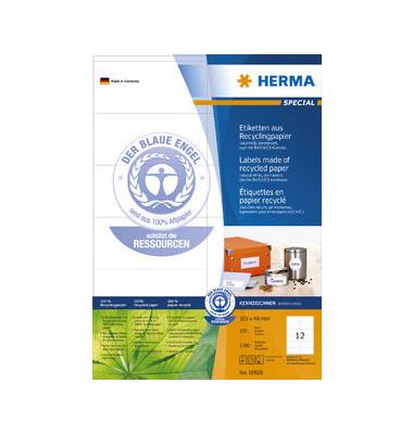 Etiketten 10828 105 x 48 mm weiß 1200 Stück Recycling