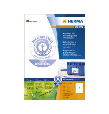 Etiketten 10832 210 x 148 mm weiß 200 Stück Recycling
