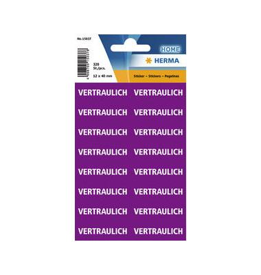 Textetiketten Vertraulich violett 12,5x40mm 320 St