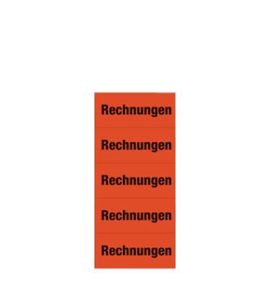 Inhaltsschilder 1742 Rechnungen rot 60x26mm selbstklebend 100 Stück