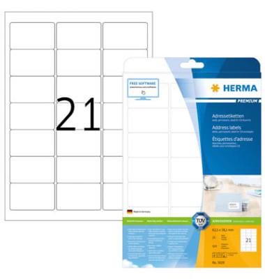 5029 Adressetiketten 63,5 x 38,1 mm weiß Papier 525 Stück