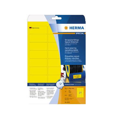 Etik Folie A4 63,5x29,6 gelb gelb 63,5x29,6mm 675 St