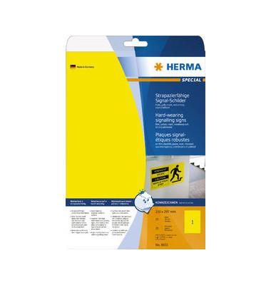 Etik Folie A4 210x297 gelb gelb 210x297mm 25 St
