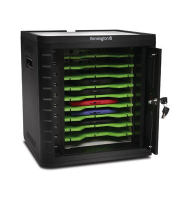 Kensington Tablet-Ladegerät K67862EU Lade- und Synchronisierstation für 10 Tablets schwarz