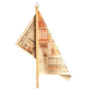 Zeitungshalter hell Natur Holz 71cm Zh: 57cm