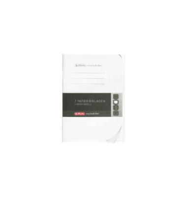Ersatzeinlagen, A6, liniert, je 40 Blatt, Lineatur 51, Papier 70g/qm,