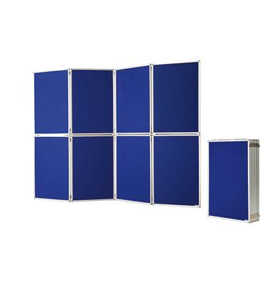 Pinnwand 1101016, 244x181cm, Filz + Filz (beidseitig), Aluminiumrahmen, blau + blau