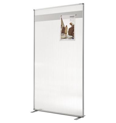 Raumteiler Acryl mit T-Fuß 1800x1000mm500mm, Alurahmen