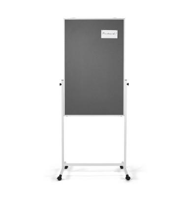 Universal-Board 3 in 1, Filz grau 750x1200mm, Alurahmen