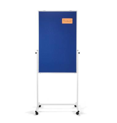 Universal-Board 3 in 1, Filz blau 750x1200mm, Alurahmen