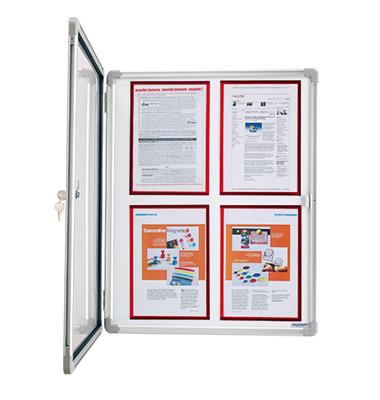 Schaukasten SP 1215200 9 x A4 Metallrückwand weiß, grau magnetisch