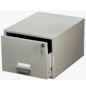 Karteikasten für A4 grau mit Schloß 351x271x455mm für 1500 Karten Stahl