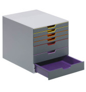 Schubladenbox Varicolor 7607-27 grau/bunt 7 Schubladen geschlossen