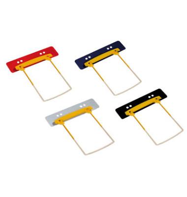 Heftstreifen kurz Clip Plus 5712525, fassungsstark, Kunststoff, farbig sortiert, 100 Stück